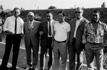 19700717 Vorstand Göttingen 05, Fricke, Thiele,Hußmann, Sachse,Eckhold, Wolter
