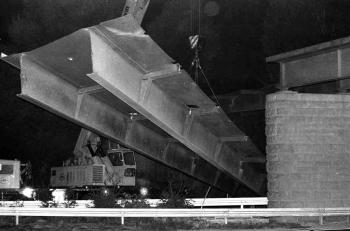 19730831 BAB Brückenmontage