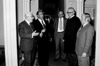 19731103 Minister Bruns, Landeskrankenhaus ,Wellmann