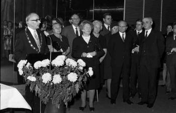19731108 Botschafter Israels Ben Horin,Levi,Kubel Empfang