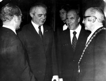 19731108 Empfang Kubel, Botschafter Israel, Ben Horin,Bruns,Levi