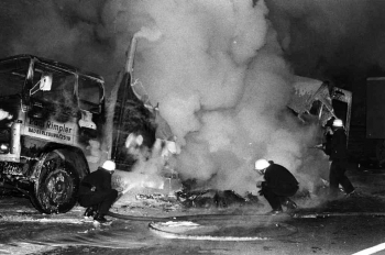 19740123 Feuer LKW BAB