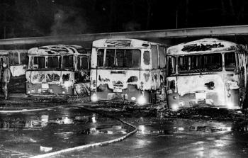 19741120 Feuer Brandanschlag Busse 1