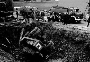 19750410 Unfall Autobahnzubringer