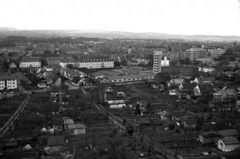 19750412 Göttingen von oben Feuerwache