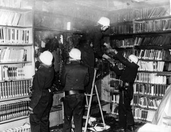 19780519 Feuer Brandanschlag Uni Seminar
