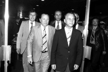 19780519 MP Albrecht, Müller,Fischer (CDU) Stadthalle 1