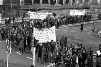 19800207 Demo gegen Klinikum