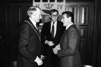 19821008 Partnerschaft Pau, OB Rinck, Vieten