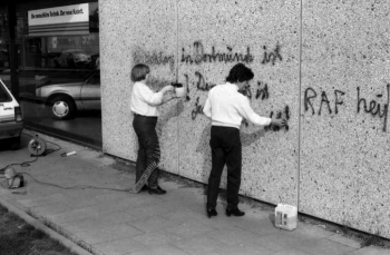 19850120 Schmiererei Deutsche Bank