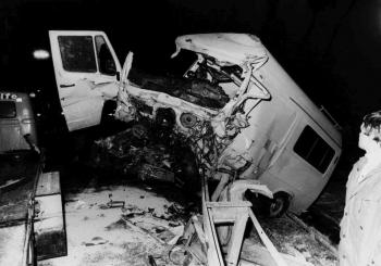 19850315 Unfall BAB PKW LKW 2