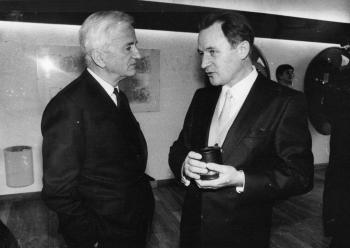 19851213 Uni Siemensring für Prof. Schäfer,links Weizsäcker