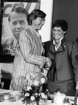 19860112 Renate Evers unterliegt R. Süßmuth