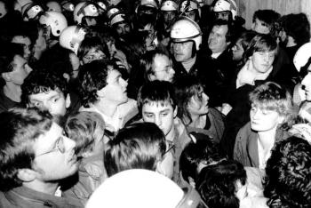 19860115 CDU Geißler, Fischer Uni Hörsaal