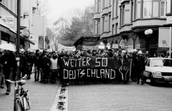 19861205 Demo gegen Polizei Razzia