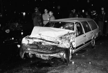 19861214 Unfall    B 27 Polizist getötet 2