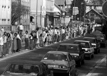 19870425 Anti Atom Demo, Verkehrschaos