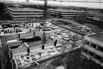 19870428 Neubau Uni Bibliothek, Uni Gelände