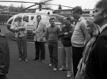 19870510 Übung mit Hubschrauber bei BF