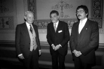 19871120 Nobelpreisträger Manfred Eigen, Müller,  Bednorz