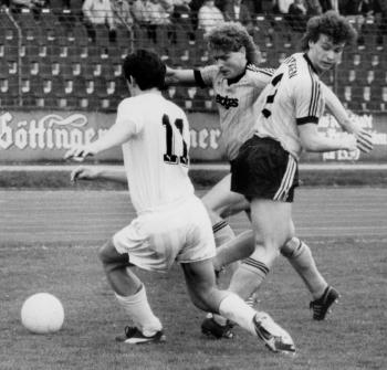 19880417 Göttingen 05 - Kiel. Hoping (l), Becker