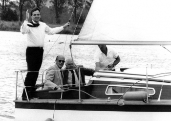 19880709 Töpfer und Ritz CDU , Northeimer Seenplatte