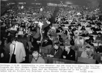 19881203 Uni Feuerzangenbowle Hörsaal