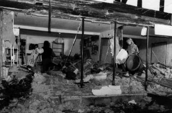 19881211 Unfall LKW B3 Wohnhaus 2