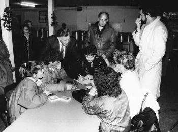 19881218 Friedland Minister Jürgens, OKD Engelhardt