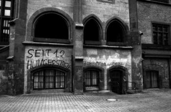 19890200 Beschmierung Hungerstreik