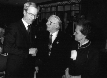 19891205 Landtagspräsident Blanke, Ehepaar Döring