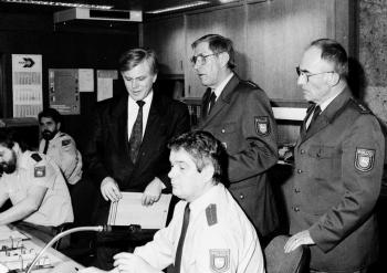19910323 Polizei Minister Glogowski, Will,Knoke