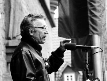 19910501 ÖTV Kundgebung,Sozialminister Hiller
