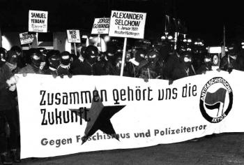 19911231 Demo Polizeiterror Selchow