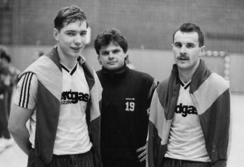 19920112 Göttingen 05 Trainer Schmidt,Zekas,Cirba