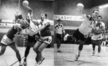 19930213 Göttingen 05 Handball,Keil (l),Hempfing (r)