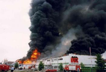 19930519 Feuer Einkaufszentrum Bovenden 5