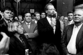 19930810 SPD Gleichen, Schröder, Scharping