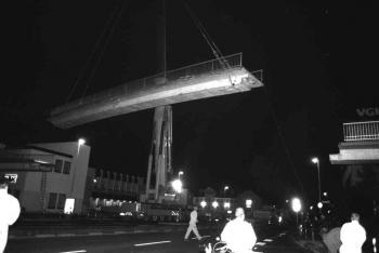 19930906 Abriss IDUNA Brücke 1