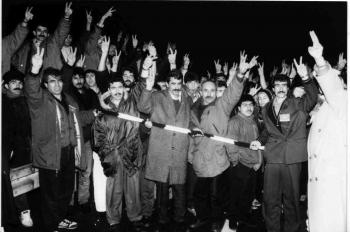 19931218 Kurden auf BAB 3