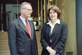 19990609 Europa Wahl, Klaus Hänsch, Erika Mann