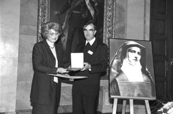 19991025 Edith-Stein Preis L. Siegele-Weschkowitz, Hübner