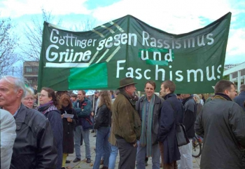 19991110 Göttinger gegen Rassismus Grüne