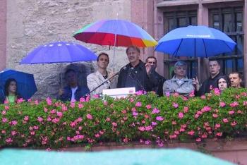 20020810 Wahl Bundestag, Wenzel, Trittin, Fischer