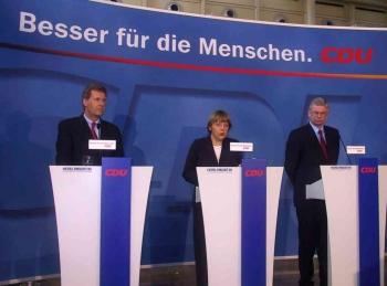 20030111 CDU_ Wulff, Merkel, Koch
