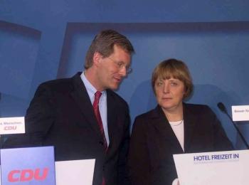 20030111 CDU Bundesvorstand Wulff,Merkel