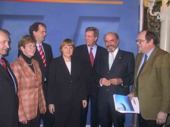 20030111 CDU, Merkel, Wulff, Fischer,Güntzler
