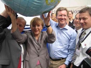20050526 30.Evgl. Kirchentag, Merkel, Wulff, Fischer